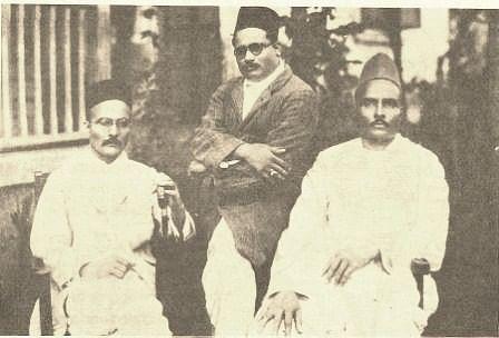 "(From left) VD Savarkar, Narayanrao Savarkar and Babarao Savarkar. (Photo Courtesy: <a href=""http://www.savarkar.org/en/gallery"">Savarkar.org)</a>"
