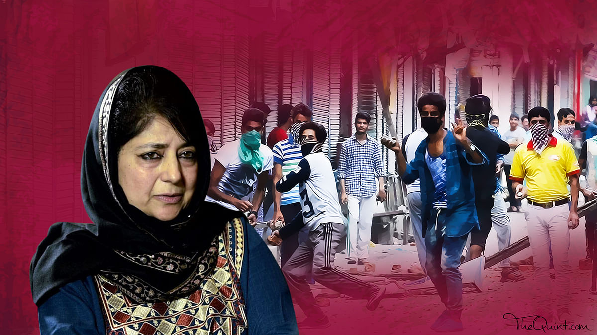 Mehbooba Mufti faces a litmus test in Kashmir bypolls as people are still enraged with violence unleashed in 2016. (Photo: Rhythum Seth/ <b>The Quint)</b>