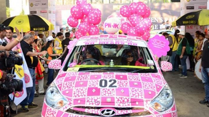 """'Pink' dominated the theme. (Photo courtesy: <a href=""""https://twitter.com/search?q=mumbai%20women%20rally&amp;src=typd"""">Twitter</a>/DarshanPise)"""