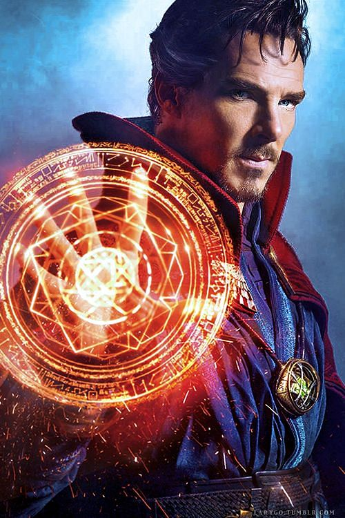 Benedict Cumberbatch in and as <i>Doctor Strange</i>.