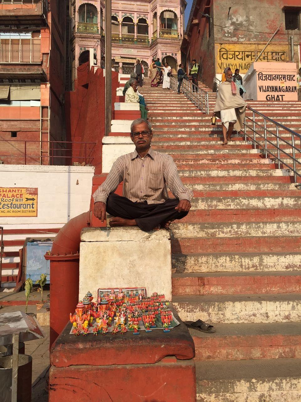 Rangnath Prajapati, painter of wooden figurines. (Photo: Jyoti Malhotra)