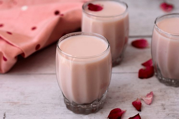"Root for gulkand (made from the extract of rose petals) as it has amazing cooling properties! (Photo Courtesy: <a href=""http://www.sailusfood.com/2015/04/20/gulkand-milkshake-healthy-summer-drink/"">Sailu's Food</a>)"