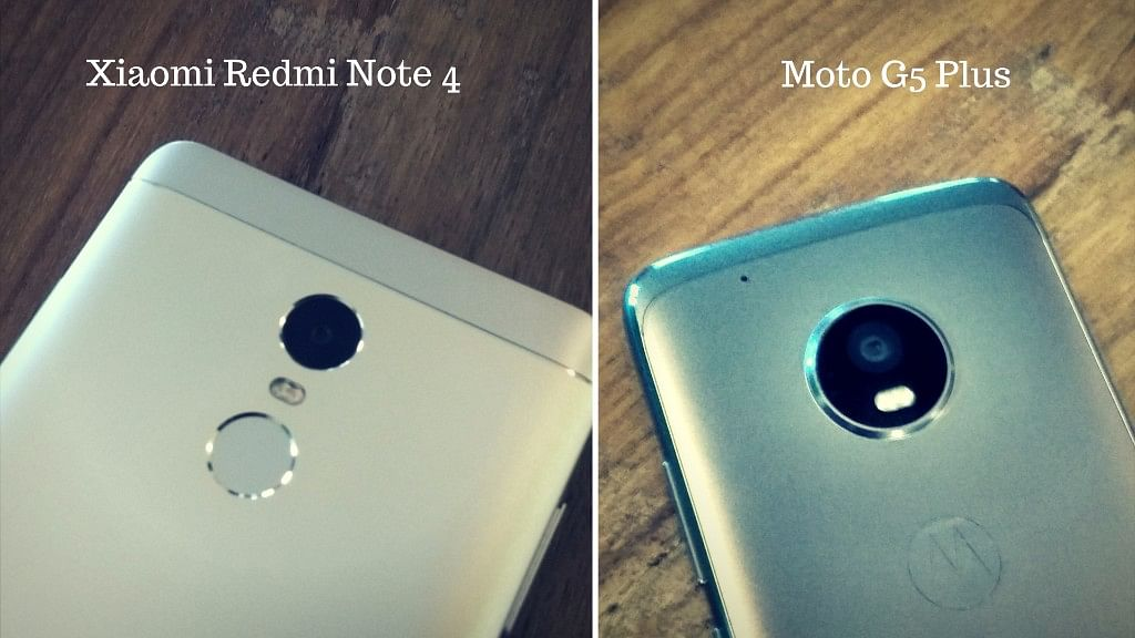 We compare the camera prowess of Moto G5 Plus with Xiaomi Redmi Note 4. (Photo: <b>The Quint</b>)
