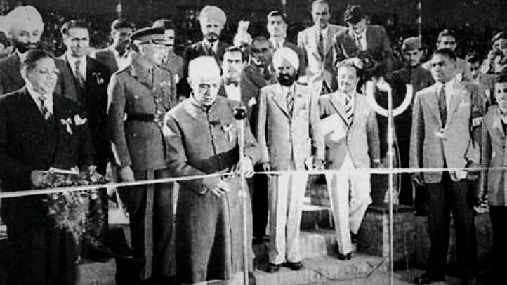First Prime Minister of India Jawaharlal Nehru inaugurates the Asian Games in 1951.