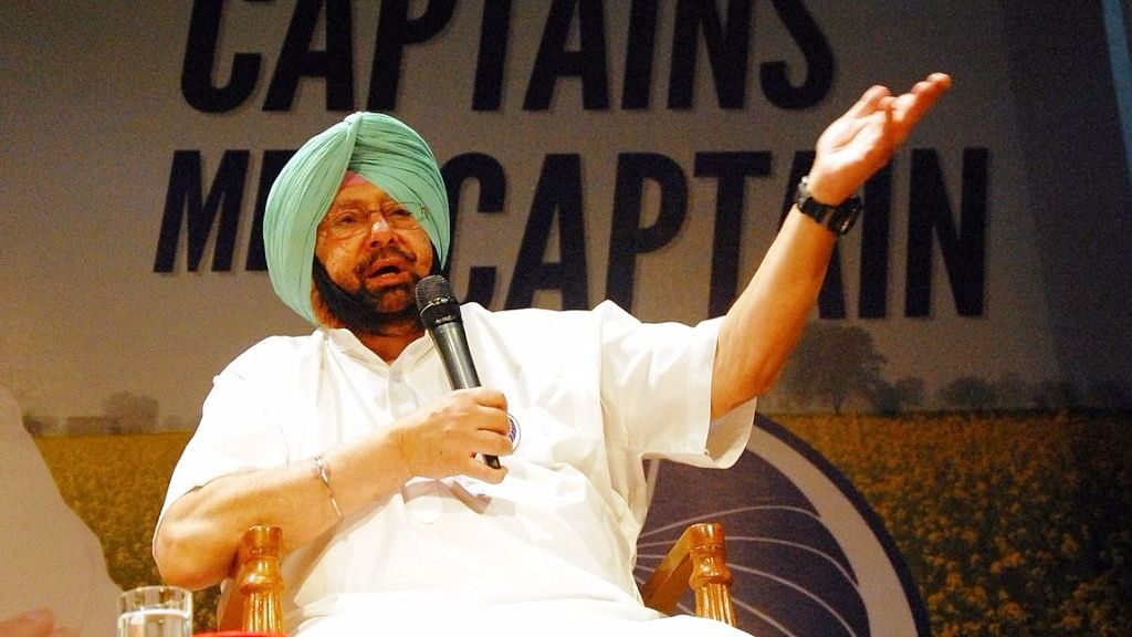 Amrinder Singh was sworn-in as the Chief Minister of Punjab after the Congress romped home with 77 seats in the 117-member assembly. (Photo Courtesy: IPAC)