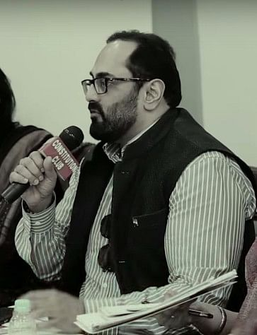 MP Rajeev Chandrasekhar, one of the largest investors in Arnab Goswami's to-be-launched Republic TV, is currently in the midst of a legal battle with The Wire (Photo: <b>The Quint</b>)