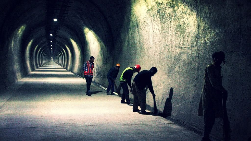 An initial deadline of July 2015 was given for the completion of the 9.28-km tunnel project. (Photo: Junaid Syed Hashmi)
