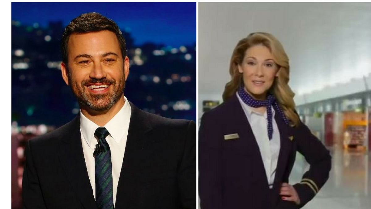 """Jimmy Kimmel and (left) a still from the spoof ad. (Photo Courtesy: <a href=""""http://https//www.youtube.com/watch?v=4muxxItbGvo"""">YouTube</a> Screenshot)"""