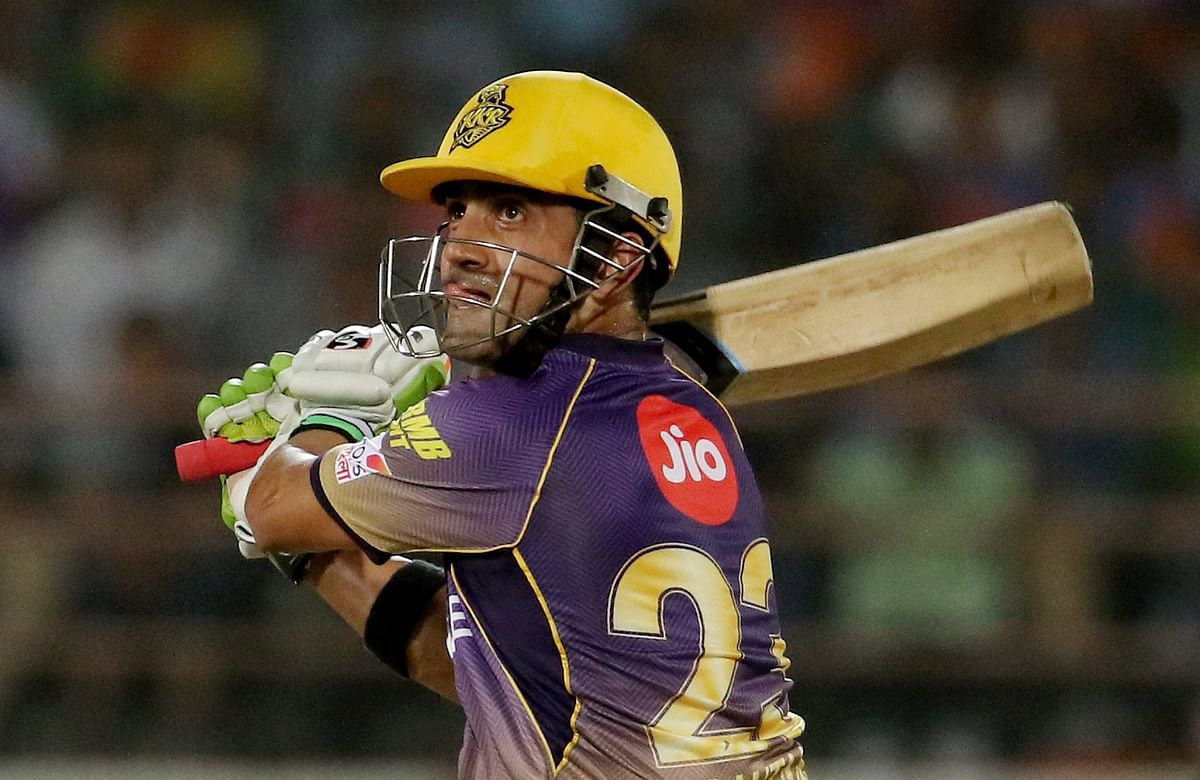 Gautam Gambhir remained unbeaten in KKR's chase against Gujarat Lions. (Photo: PTI)