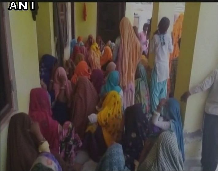 Rajasthan: Family mourns the demise of Subedar Bhup Singh in Dausa. (Photo: ANI)