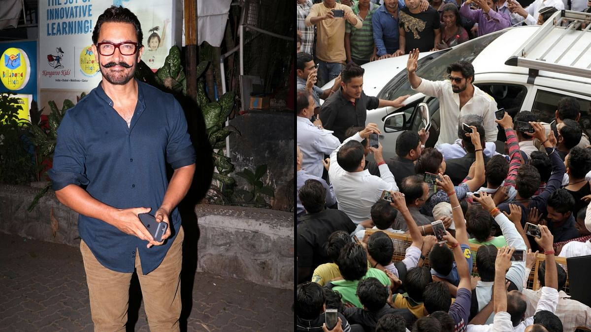 Aamir Khan and Rana Daggubati were spotted in the city. (Photo: Yogen Shah)