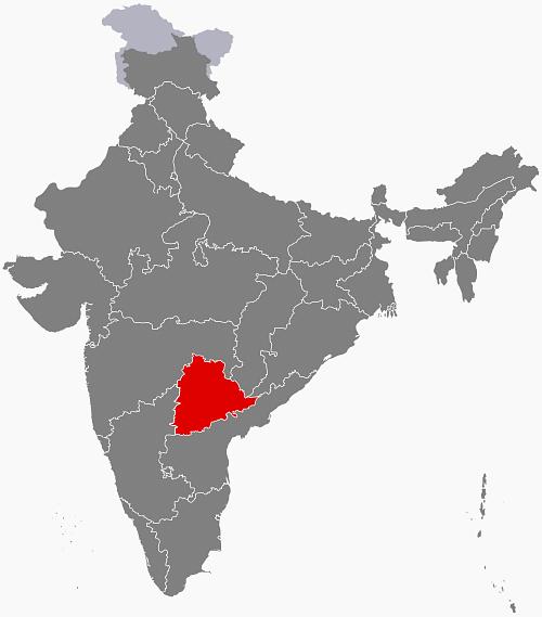 "Telangana (Photo Courtesy: <a href=""https://en.wikipedia.org/wiki/Telangana#/media/File:IN-TG.svg"">Wikipedia</a>)"