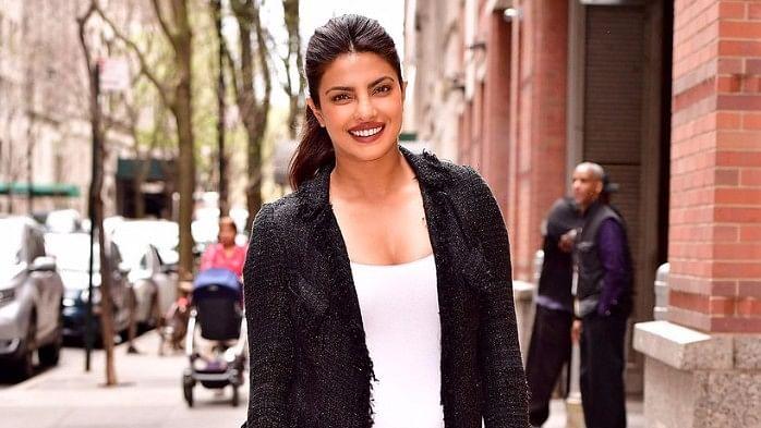 Priyanka Chopra in New York. (Photo courtesy: Twitter/BadPostPriyanka)