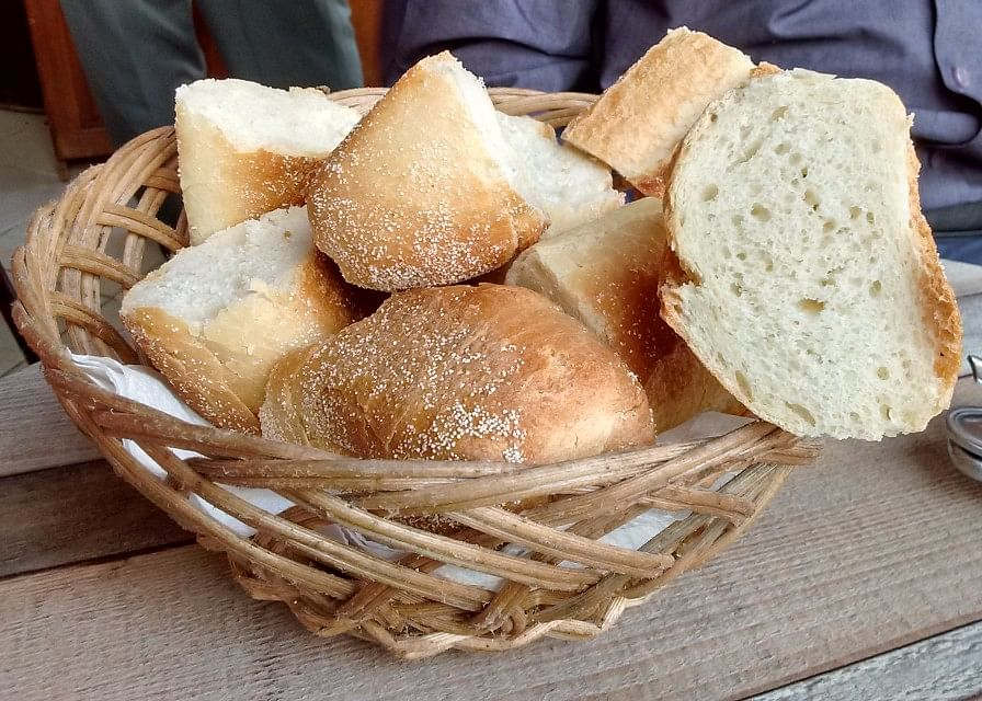 A bread basket is complimentary with every Moroccan meal. (Photo: Suktara Ghosh)