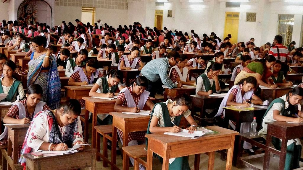 Students appearing for their board exams in Agartala. (Photo: PTI)