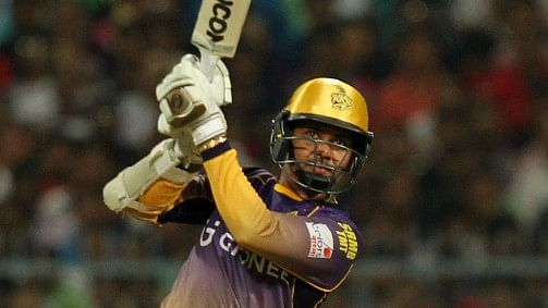 Sunil Narine scored 34 off 17 balls against Royal Challengers Bangalore. (Photo: BCCI)
