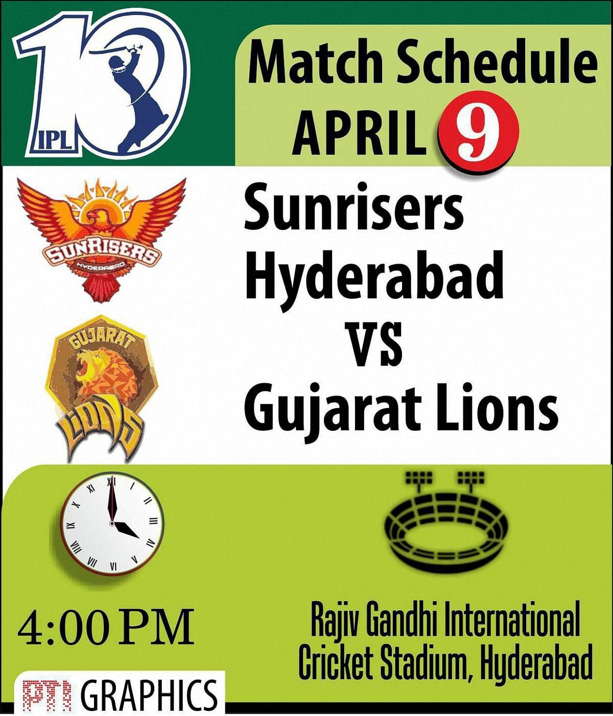 Sunday Pvw, Game 1: Sunrisers Hyderabad vs Gujarat Lions