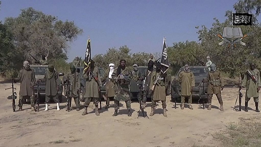 File photo of Boko Haram terrorists of Nigeria.