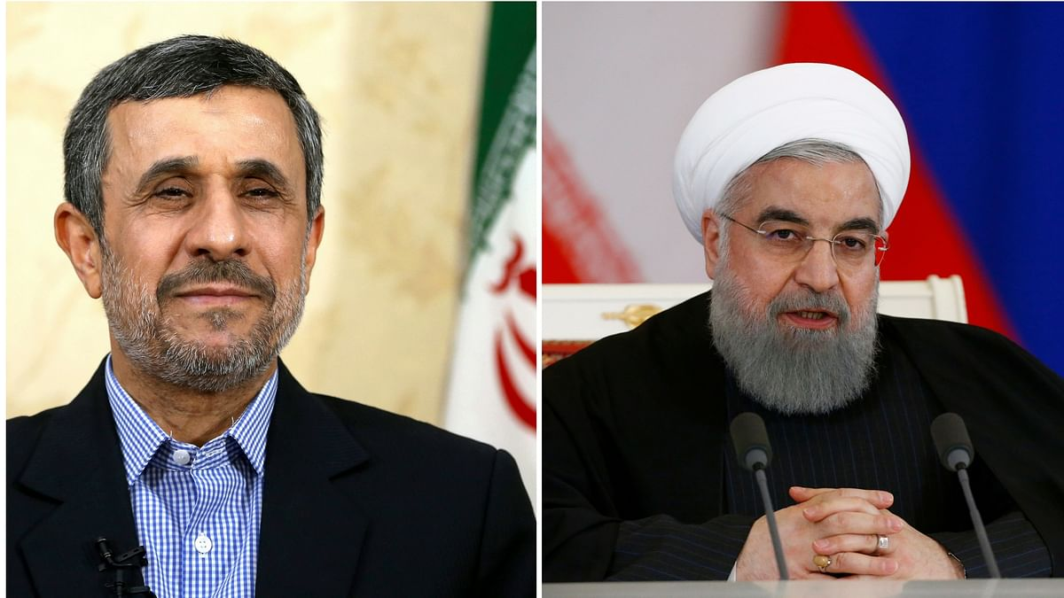 While  former president Mahmoud Ahmadinejad (left) was disqualified, Iranian President Hassan Rouhani (right) was approved to run in May's presidential election. (Photo: AP, Reuters)