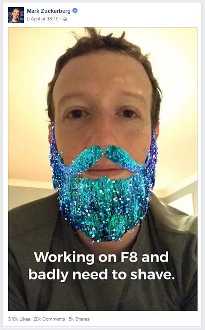 "Facebook's AR plans go beyond just filters. (Photo Courtesy: <a href=""https://www.facebook.com/zuck"">Facebook</a>)"