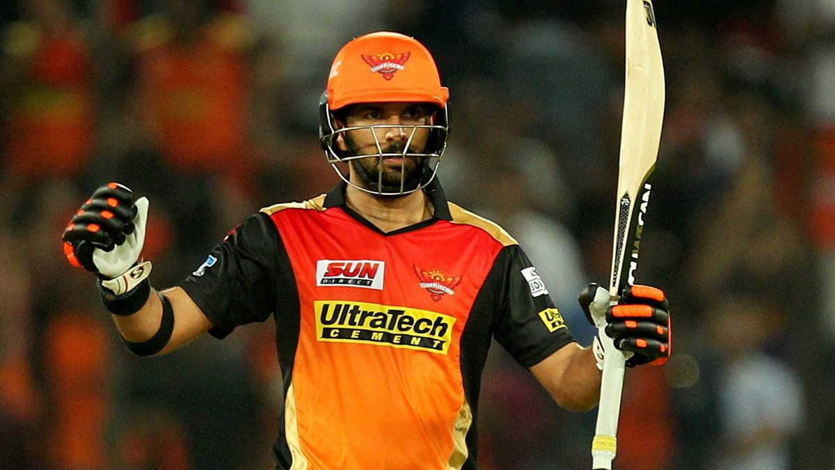 Yuvraj Singh smashed a half-century in the Sunrisers' opening game. (Photo: PTI)