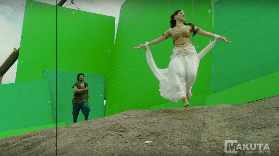 Most of both the <i>Baahubali</i> films have been shot against green screen. (Photo courtesy: YouTube)