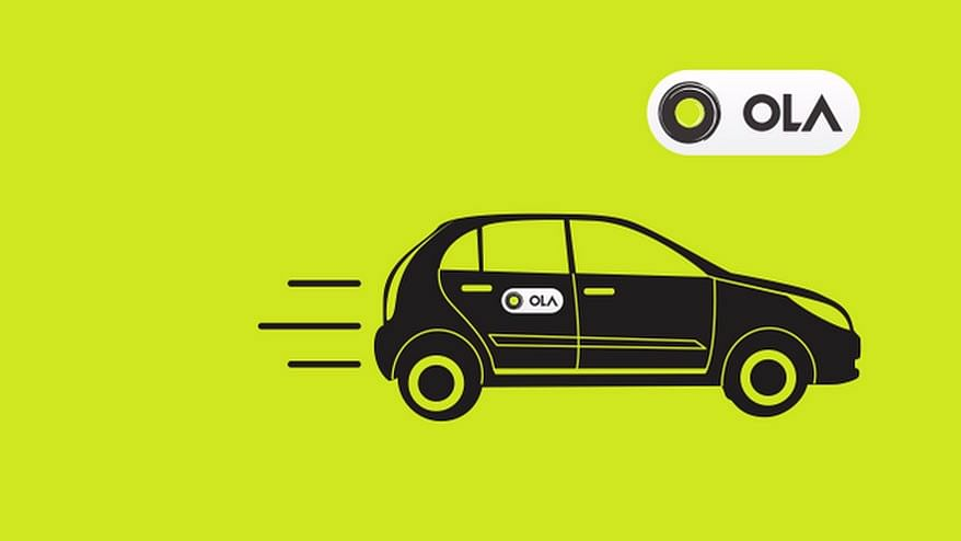"""India's largest ride-hailing startup Ola raised $250 million in fresh funding from Japanese investor SoftBank. (Photo Courtesy: Twitter/<a href=""""https://twitter.com/Olacabs"""">@<b>Olacabs</b></a>)"""