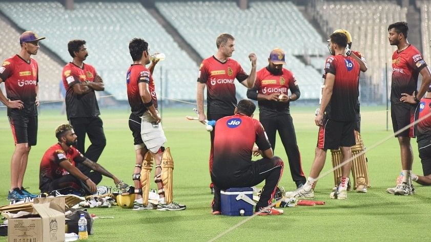 Kolkata Knight Riders (KKR) during a practice session. (Photo: IANS)