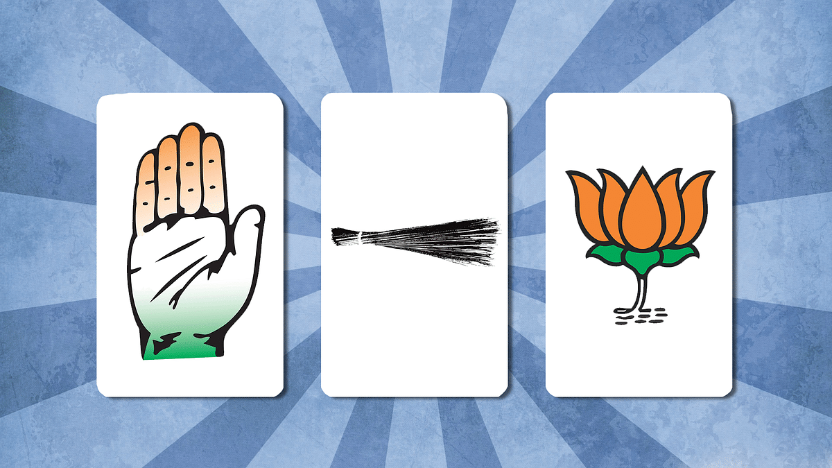 It's a three-way fight between the AAP, the BJP and the Congress. (Photo: <b>The Quint</b>)
