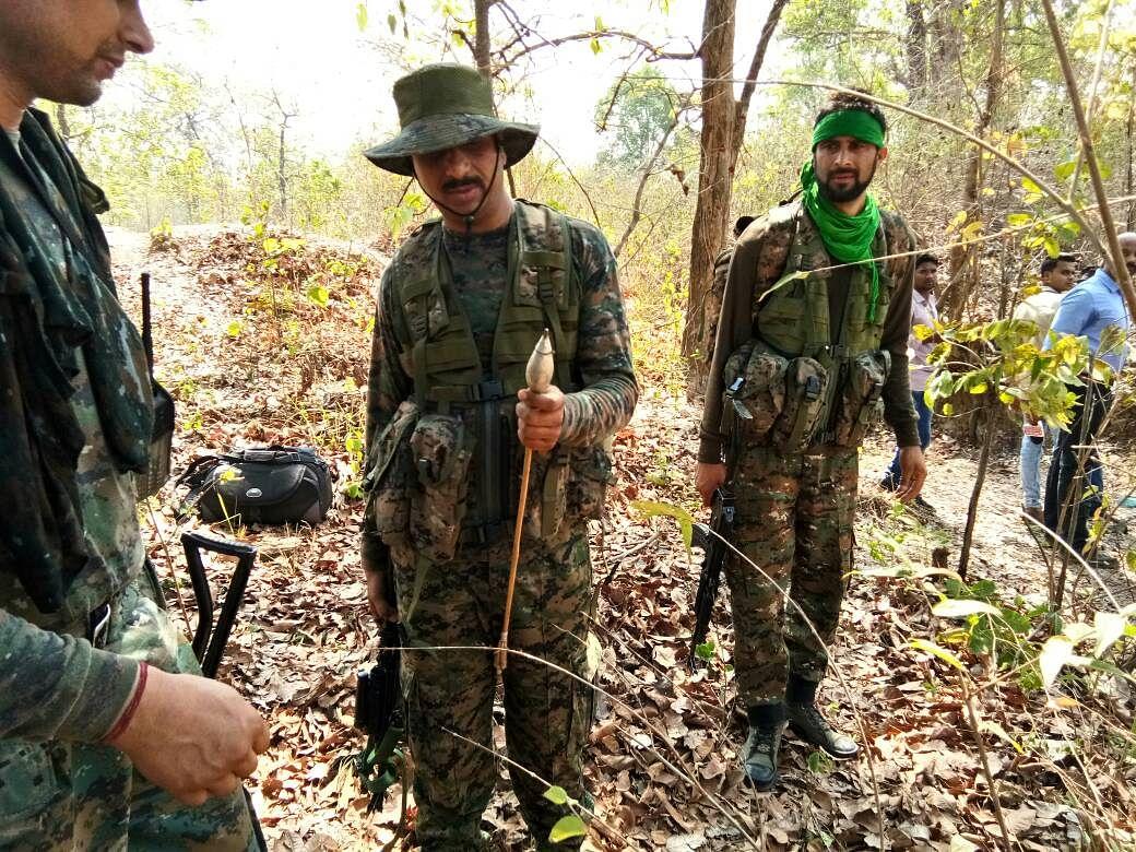 CRPF personnel in Sukma jungles. (Photo: Chandan Nandy/<b>The Quint</b>)