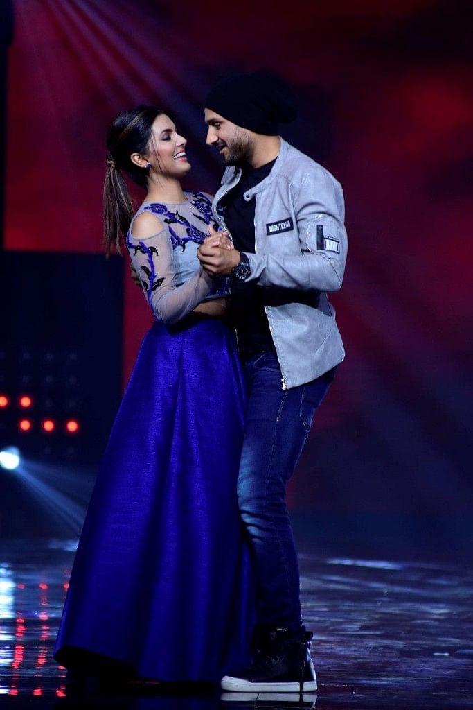 Harbhajan Singh and Geeta Basra show their love on the dance floor. (Photo courtesy: Star Plus)