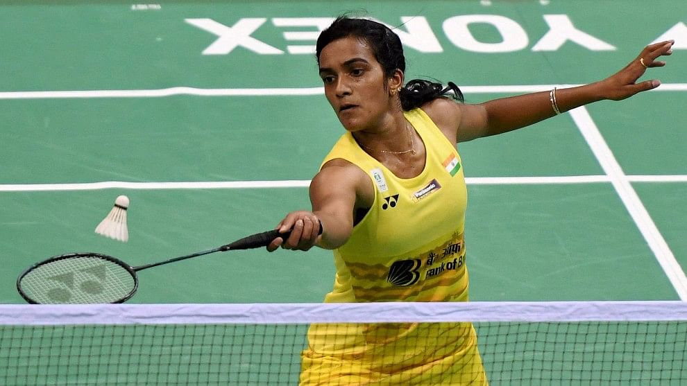 PV Sindhu in action at the India Open Super Series. (Photo: PTI)