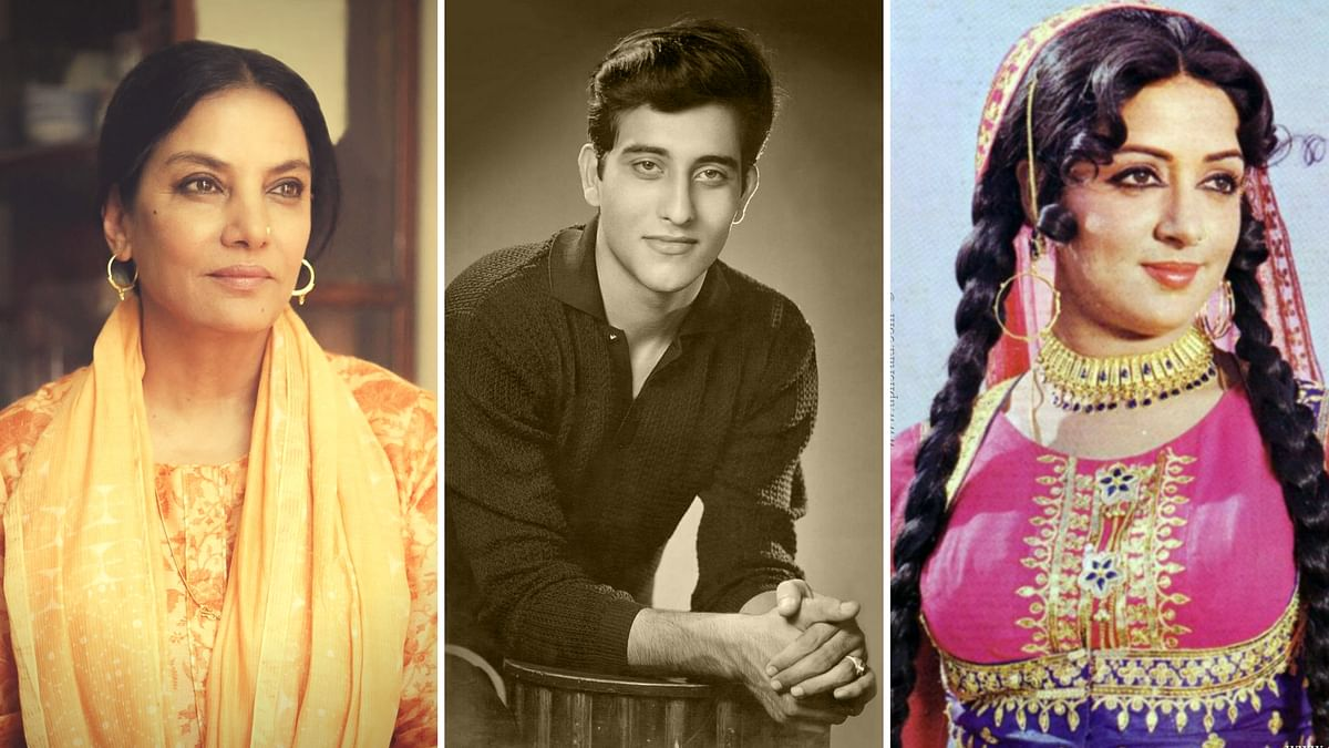 Shabana Azmi and Hema Malini remember Vinod Khanna. (Photo courtesy: Twitter; altered by <b>The Quint</b>)