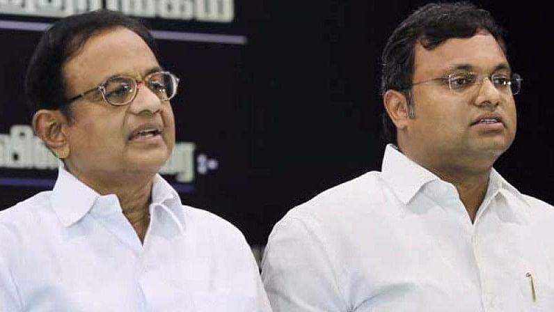 P Chidambaram and son Karti.