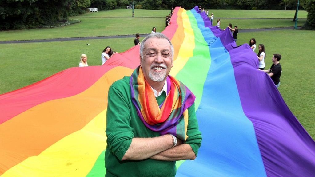 """Baker was stationed in San Francisco in the early 1970s while serving in the US Army, at the start of the gay rights movement. (Photo Courtesy: Facebook/<a href=""""https://www.facebook.com/photo.php?fbid=10202845720557547&amp;set=a.4762268328116.2173948.1037558052&amp;type=3&amp;theater"""">Gilbert Baker</a>)"""