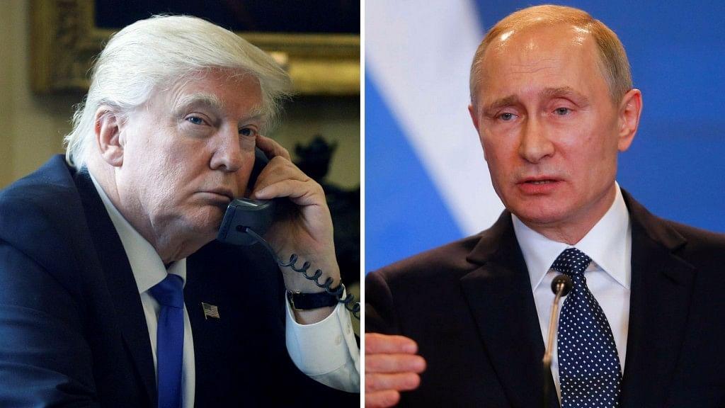 US President Donald Trump (left) and Russian President Vladimir Putin.