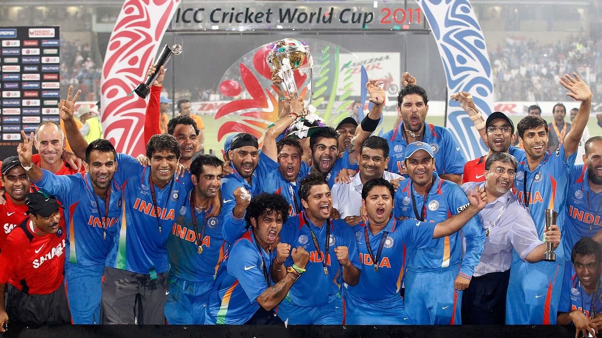 India's World Cup winning team in 2011.