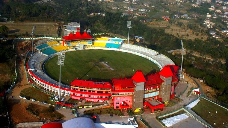 A bird's-eye-view of the cricket ground in Dharamsala. (Photo: HPCA)