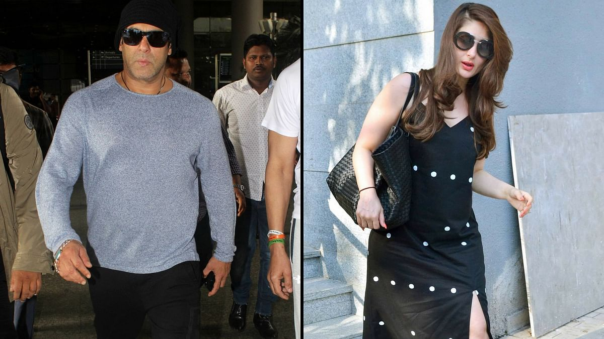 Salman Khan and Kareena Kapoor were spotted in the city. (Photo: Yogen Shah)