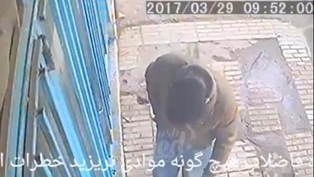 The incident took place in Tehran, Iran. (Photo Courtesy: video screengrab)