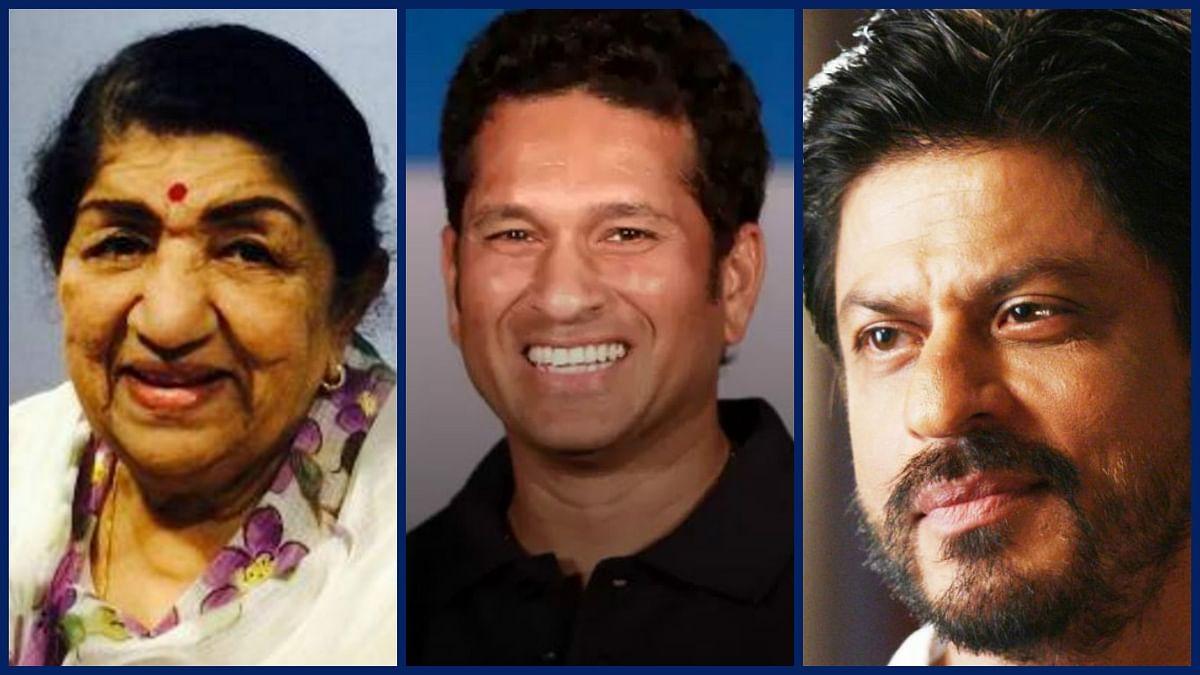 Lata Mangeshkar and Shah Rukh wished Tendulkar on social media, among other celebrities. (Photo: <b>The Quint</b>)