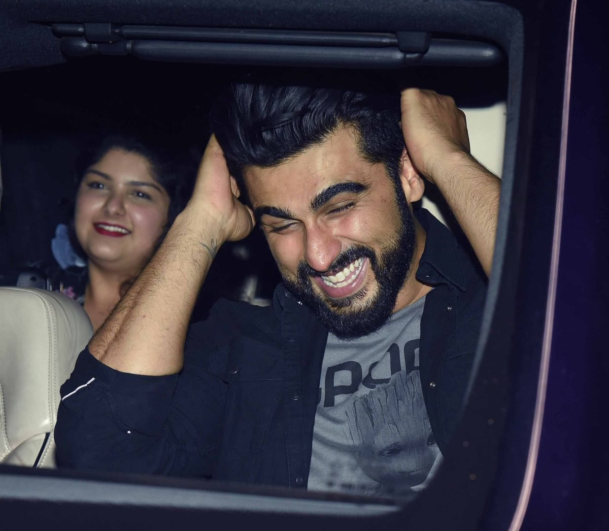 An ecstatic Arjun Kapoor with his sister Anshula Kapoor. (Photo: Yogen Shah)