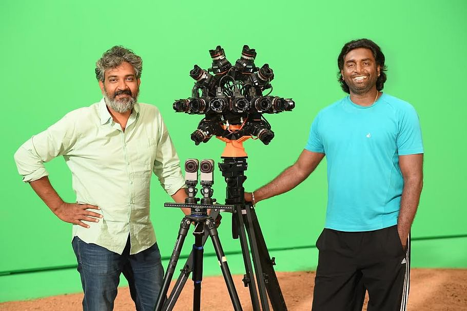 Senthil and SS Rajamouli and that camera(s). (Photo courtesy: Facebook)