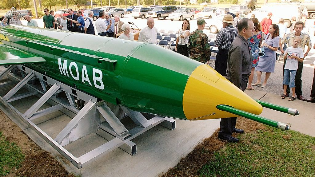 The United States dropped the MOAB in eastern Afghanistan on April 13. (Photo: AP)