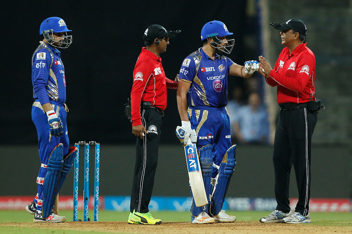 Rohit Sharma was fined 50 percent of his match fee for questioning the umpire's decision. (Photo: BCCI)