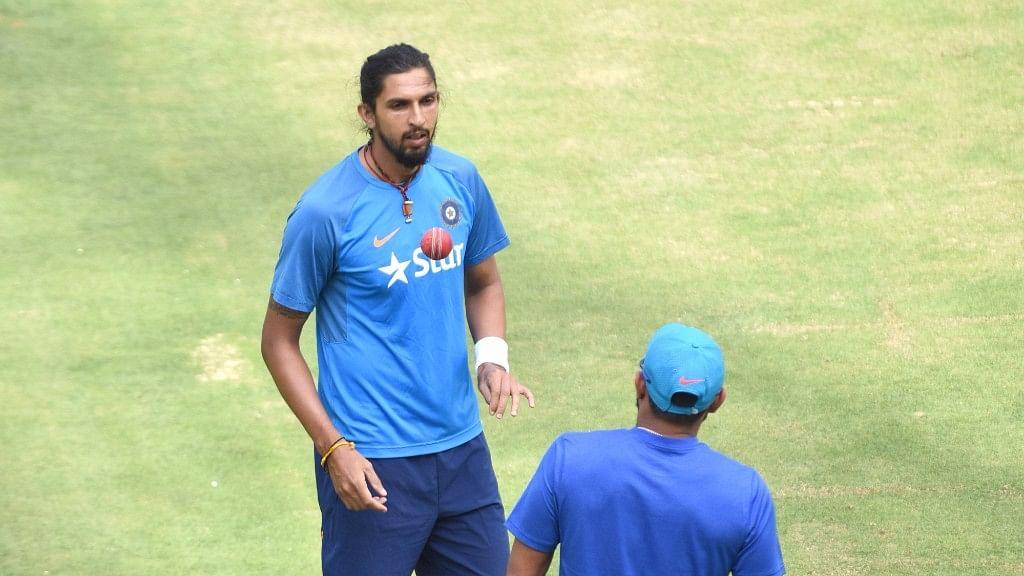 Ishant Sharma during a practice session. (Photo: IANS)