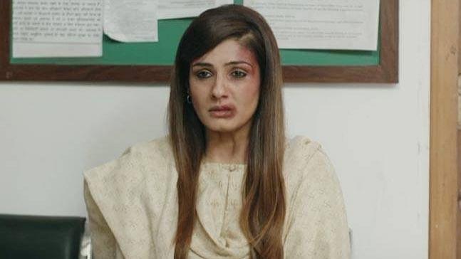 "Raveena Tandon in a scene from <i>Maatr.</i> (Photo courtesy: <a href=""https://www.youtube.com/watch?v=SYiAY486QkI"">YouTube/ T-series</a>)"