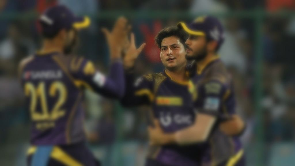 Kuldeep Yadav in KKR. (Photo: IANS)
