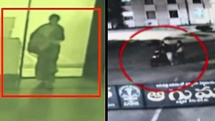 CCTV footage showing the woman in question and her accomplice (Photo Courtesy: The News Minute)