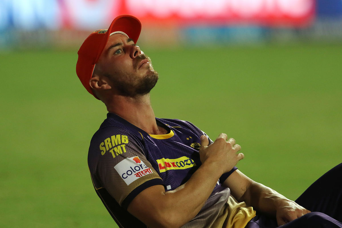Chris Lynn injured his shoulder during KKR's match against Mumbai Indians. (Photo: BCCI)